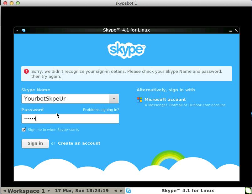 Installing and running on Ubuntu — Sevabot - Skype bot 1 0